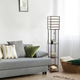 Home Accents Lalia Home 1 Light Metal Etagere & Storage Floor Lamp, Dk Wood