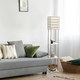 Home Accents Lalia Home 1 Light Metal Etagere & Storage Floor Lamp, Light Wood