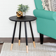 Honey-Can-Do Black Round End Table