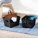 Honey-Can-Do Black Woven Baskets (Set of 3)