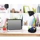 Home Accents LimeLights BLK Gooseneck Orgnzr Desk Lamp w Device Holder & USB