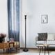Home Accents Elegant Designs 1Light RBZ Torchiere Floor Lamp w WHT Gls Shade