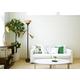 Home Accents Elegant Designs RBZ 3Light Floor Lamp w Scalloped CHA Gls Shade