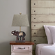 Home Accents  Lalia Home Elephant Table Lamp with Fabric Shade