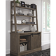 Luxenford 2-Piece Home Office Credenza with Hutch