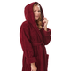 Arus Women's Full Length Soft Twist Cotton Hooded Turkish Bathrobe (M)