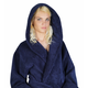 Arus Women's Full Length Soft Twist Cotton Hooded Turkish Bathrobe (M)