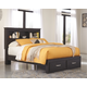 Reylow Queen Bookcase Bed with 2 Storage Drawers