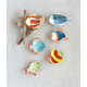 Creative Co-Op Mini Hand-Painted Stoneware Fish Dish (Set of 6 Styles)