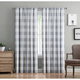 Home Accents Truly Soft Everyday Buffalo Plaid Gray Drape Set