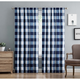 Home Accents Truly Soft Everyday Buffalo Plaid Navy Blue Drape Set