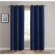 Home Accents Truly Blackout Navy Window Panel Pair