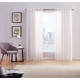 Home Accents Style 212 Sheer 50x84 White Window Panel Pair