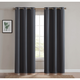 Home Accents Truly Blackout Dark Grey Window Panel Pair
