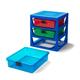Lego ®  3-Drawer Storage Rack - Blue