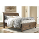 Flynnter Queen Sleigh Bed with 2 Storage Drawers