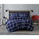 Truly Soft Printed Windowpane 2 Piece Twin XL Comforter Set