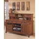 Cross Island 2-Piece Home Office Large Credenza with Low Hutch