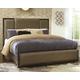 Chaliene Cal King Upholstered Panel Bed