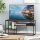 Furinno Moretti Modern Lifestyle TV Stand  Furinno Moretti Modern Lifestyle TV Stand for TV up to 50 Inch, Columbia Walnut