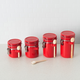 Home Accents 4 Piece Ceramic Canister Set with Wooden Spoons, Red