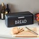 Home Accents Metal Bread Box, Black