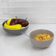 Home Accents Ceramic Cereal Bowl, Gray
