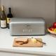 Home Accents Soho Metal Bread Box, Gray