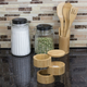 Home Accents 3 Tier Natural Bamboo Salt Box
