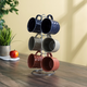 Home Accents Chequer 6 Piece Mug Set with Stand