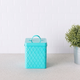 Home Accents Trellis Collection Small Tin Canister, Turquoise