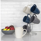 Home Accents 6-Piece Diamond Mug Set with Stand
