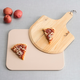 Home Accents White Ceramic Pizza Stone with Wood Paddle