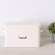 Home Accents Tin Bread Box, Ivory