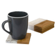 Home Accents Bamboo and Absorbent Decorative Beverage  Square  Marble Coasters, (Set of 4)
