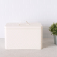 Home Accents Trellis Tin Multi-Purpose Bread Box with Snug-Fit Lid, Ivory
