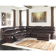 Damacio 5-Piece Reclining Sectional with Chaise and Power