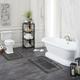 Mohawk Facet Bath Rug Gray (1' 8
