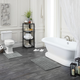 Mohawk Basic Stripe Bath Rug Gray (1' 8