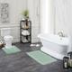 Mohawk Facet Bath Rug Aqua (2'x3' 4