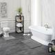 Mohawk Basic Stripe Bath Rug Gray (2'x3' 4