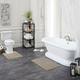 Mohawk Basic Stripe Bath Rug Oxford Tan (2'x3' 4