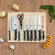 Home Accents 10 Piece Knife Set with Cutting Board