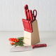 Home Accents 13 Piece Knife Set with Block in Red
