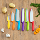Home Accents 6 Stainless Steel Knife Set with Colorful Slip Covers
