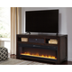 Rogness TV Stand with Fireplace and Wireless Pairing Speaker