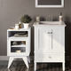 Simpli Home Draper Floor Storage Bath Cabinet