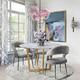 Rocco Rocco Slub Gray Dining Chair