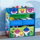 Delta Children Baby Shark Design & Store 6 Bin Toy Storage Organizer