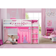 Delta Children Disney Princess Loft Bed Tent - Curtain Set For Low Twin Loft Bed (bed Sold Separately)